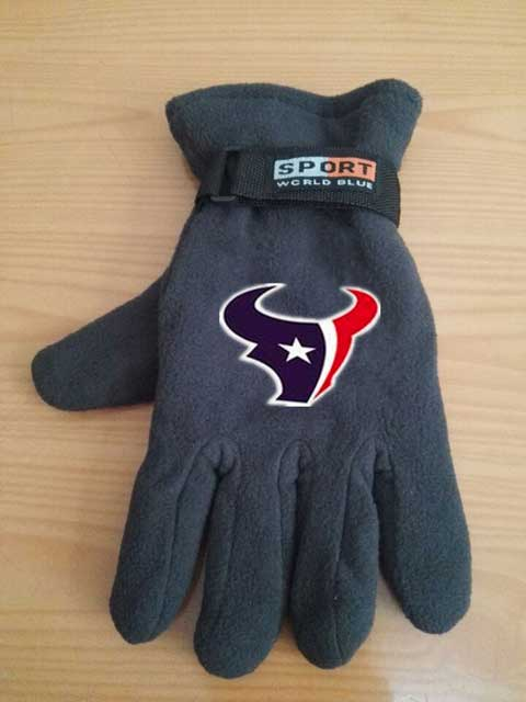 Houston Texans NFL Adult Winter Warm Gloves Dark Gray