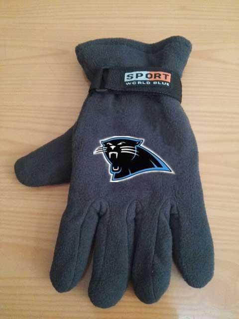 Carolina Panthers NFL Adult Winter Warm Gloves Dark Gray