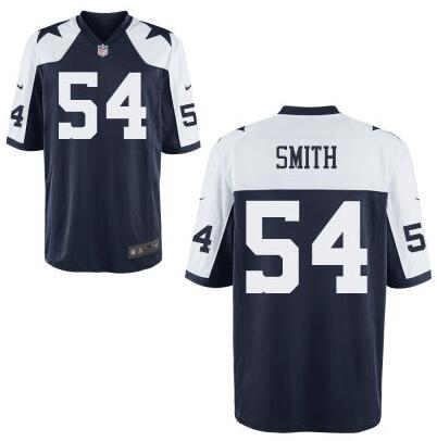 Youth Dallas Cowboys #54 Jaylon Smith Nike Navy Blue Thanksgivings 2016 Draft Pick Game Jersey