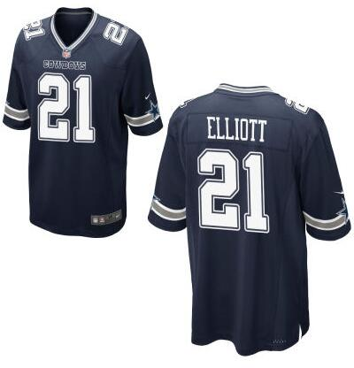 Youth Dallas Cowboys #21 Ezekiel Elliott Nike Navy 2016 Draft Pick Game Jersey
