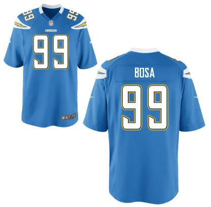 Youth San Diego Chargers #99 Joey Bosa Nike Light Blue 2016 Draft Pick Game Jersey