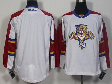 half off b40d8 a51ac Men's Florida Panthers Blank Reebok White Away Hockey Jersey ...