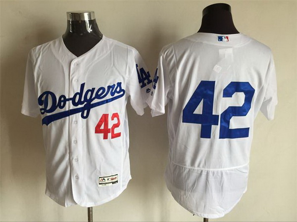 newest f11a7 2c2f7 Men's Los Angeles Dodgers #42 Jackie Robinson NO Name White ...