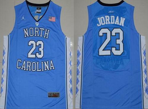 Men s North Carolina Tar Heels  23 Michael Jordan 2016 Light Blue Swingman  College Basketball Jersey 75c6278a1
