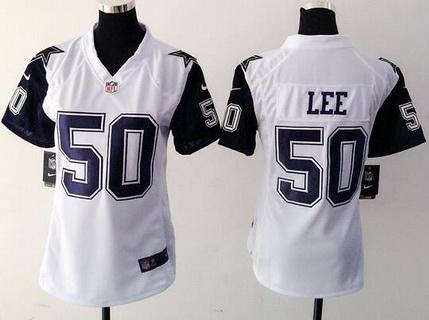 official photos 10f5e d46c9 Women's Dallas Cowboys #50 Sean Lee Nike White Color Rush ...