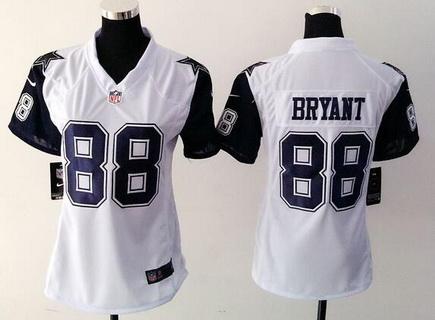 promo code c29c3 36efc Women's Dallas Cowboys #88 Dez Bryant Nike White Color Rush ...