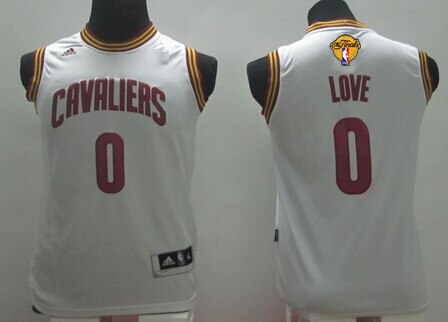 Youth Cleveland Cavaliers #0 Kevin Love White 2016 The NBA Finals Patch Jersey