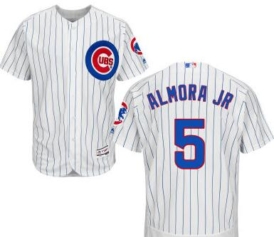 f8c08a98181 Men s Chicago Cubs  5 Albert Almora Jr White Home Cool Base Majestic Baseball  Jersey