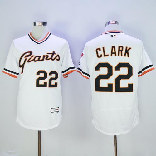 separation shoes 88955 28bd7 Men's San Francisco Giants #22 Will Clark Retired White ...