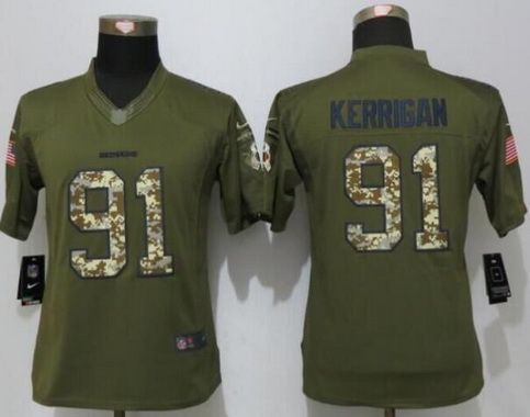 new concept f7b14 20cfb Women's Washington Redskins #91 Ryan Kerrigan Gray Gridiron ...