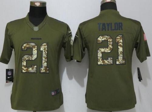 Women's Washington Redskins #21 Sean Taylor Retired Player Green  supplier