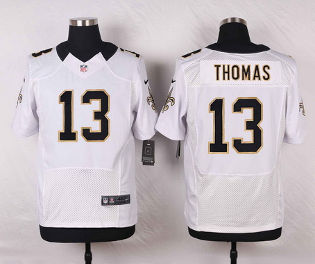 5676ebd80 Men's New Orleans Saints #13 Michael Thomas White Road NFL Nike Elite Jersey