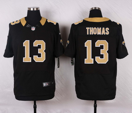 a547f292e Men's New Orleans Saints #13 Michael Thomas Black Team Color NFL Nike Elite  Jersey