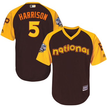 Josh Harrison Brown 2016 MLB All-Star Jersey - Men's National League Pittsburgh Pirates #5 Cool Base Game Collection