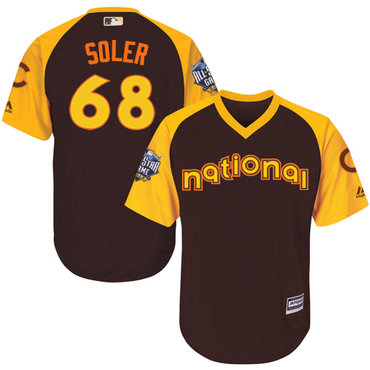 Jorge Soler Brown 2016 MLB All-Star Jersey - Men's National League Chicago Cubs #68 Cool Base Game Collection