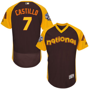Welington Castillo Brown 2016 All-Star Jersey - Men's National League Arizona Diamondbacks #7 Flex Base Majestic MLB Collection Jersey