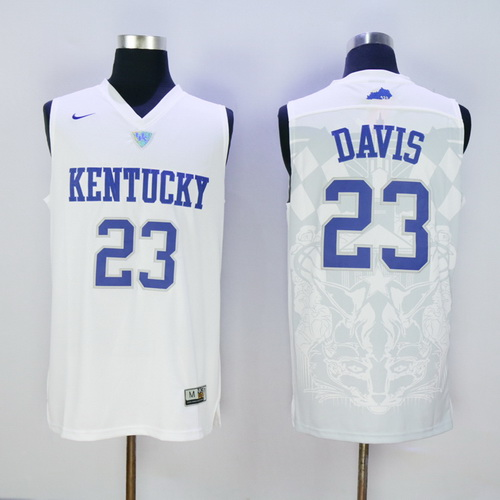 Men S Kentucky Wildcats 23 Anthony Davis White 2016 College