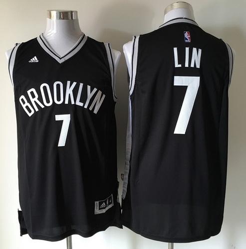 046034f0abc Men's Brooklyn Nets #7 Jeremy Lin Black Revolution 30 Swingman Basketball  Jersey
