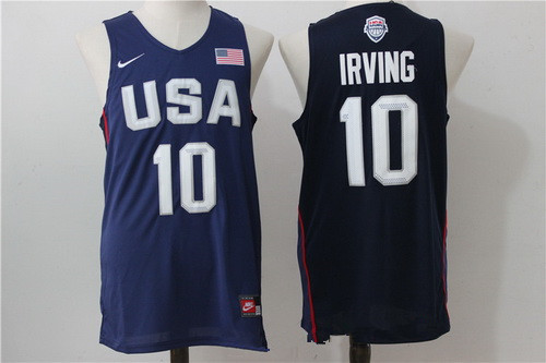 2016 Olympics Team USA Men's #10 Kyrie Irving Navy Blue Revolution 30 Swingman Basketball Jersey