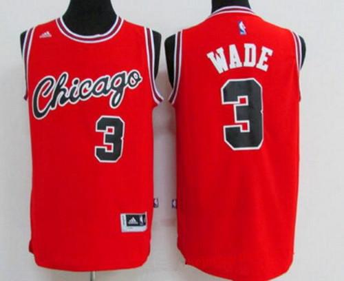 Men's Chicago Bulls #3 Dwyane Wade Red Retro Revolution 30