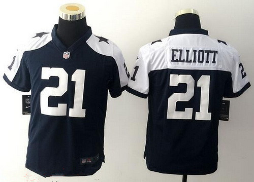 low priced f12b0 243ab Youth Dallas Cowboys #21 Ezekiel Elliott Navy Blue ...