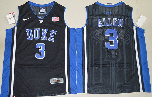 1b3f0cd93fa Men s Duke Blue Devils  3 Garyson Allen Black College Basketball Nike  Swingman Stitched NCAA Jersey