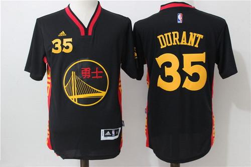 Men s Golden State Warriors  35 Kevin Durant Black Adidas Revolution 30  Swingman 2015 Chinese Fashion Stitched NBA Jersey 732729801