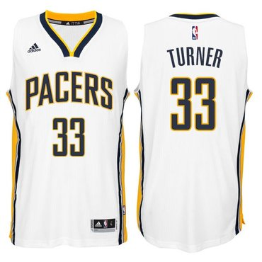b4a105000 Indiana Pacers  33 Myles Turner 2014-15 New Swingman Home Jersey White