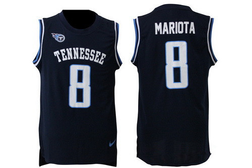Discount Men's Tennessee Titans #8 Marcus Mariota Nike Navy Blue Limited  hot sale