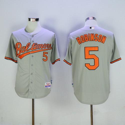 Men's Baltimore Orioles #5 Brooks Robinson Retired Gray Stitched ...