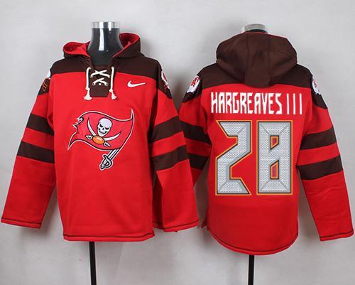 Nike Buccaneers #28 Vernon Hargreaves III Red Player Pullover NFL Hoodie