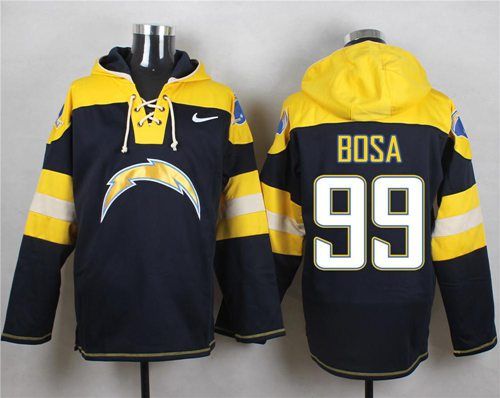 Nike Chargers #99 Joey Bosa Navy Blue Player Pullover Hoodie