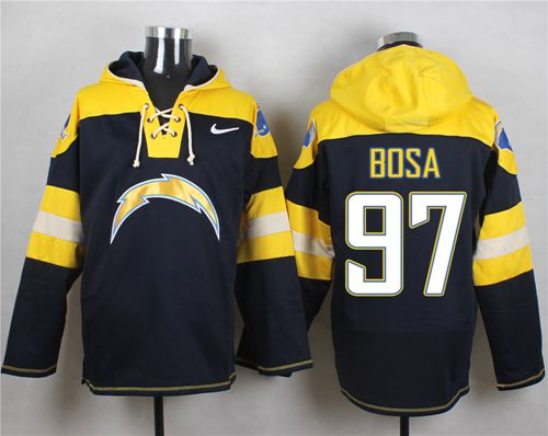 Nike Chargers #97 Joey Bosa Navy Blue Player Pullover Hoodie