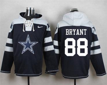 Nike Cowboys 88 Dez Bryant Navy Blue Player Pullover Hoodie