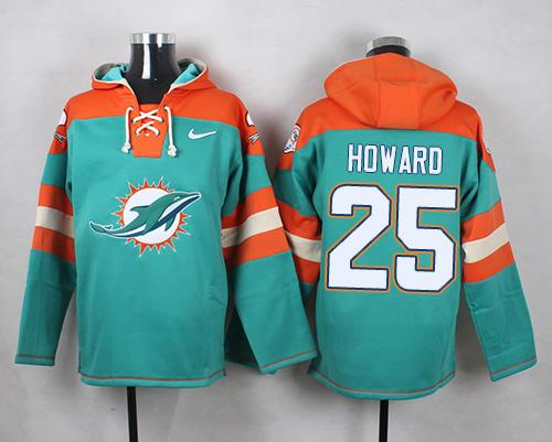 hot sale online e645f c1b19 Nike Dolphins #25 Xavien Howard Aqua Green Player Pullover ...