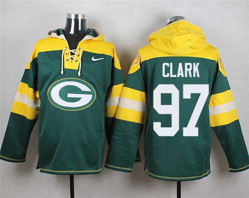 Nike Packers #97 Kenny Clark Green Player Pullover NFL Hoodie