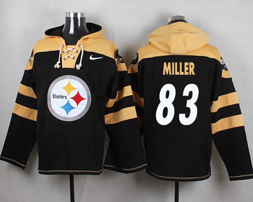 Nike Steelers #83 Heath Miller Black Player Pullover NFL Hoodie