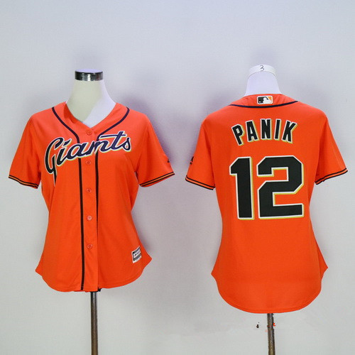 f68639aa Women's San Francisco Giants #12 Joe Panik Orange MLB Cool Base Stitched  Baseball Jersey