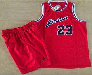Chicago Bulls #23 Michael Jordan Red Commemorative Swingman Jersey