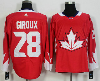 mens team canada 28 claude giroux red 2016 world cup of hockey game jersey