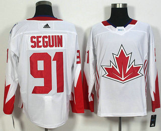 Men's Team Canada #91 Tyler Seguin White 2016 World Cup of Hockey Game Jersey
