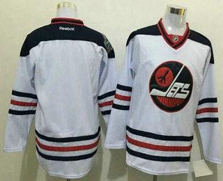b2fc3d300 Men s Winnipeg Jets Blank White 2017 Winter Classic Stitched NHL Reebok  Hockey Jersey