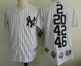 100% authentic a7d3a f4c4c Men's New York Yankees 2 20 42 46 White Home Cool Base ...