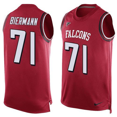 Men's Atlanta Falcons #71 Kroy Biermann Red Hot Pressing Player Name