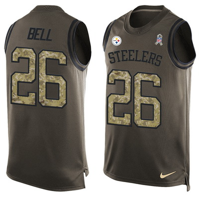Men's Pittsburgh Steelers #36 Jerome Bettis Black Hot Pressing Player Name & Number Nike NFL Tank Top Jersey