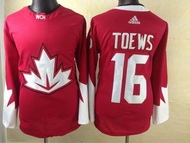2016 IIHF Team Canada Men's #16 Jonathan Toews Red adidas Ice Hockey Stitched Jersey