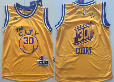 lowest price 41613 c07a0 Youth Golden State Warriors # Stephen Curry Yellow The City ...