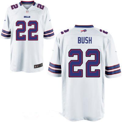 Men's Buffalo Bills #22 Reggie Bush White Road Stitched NFL Nike ...