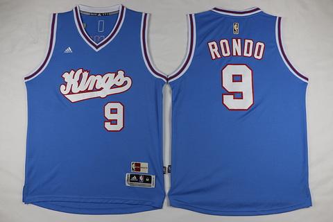 Men's Sacramento Kings #9 Rajon Rondo Revolution 30 Swingman 2015-16 Blue Jersey