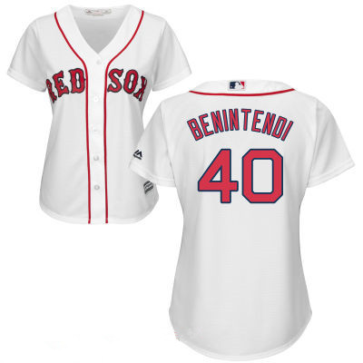 timeless design 042da 50654 Women's Boston Red Sox #40 Andrew Benintendi White Home ...